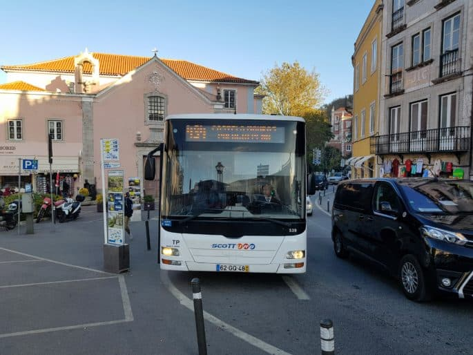 Autocarro em Sintra