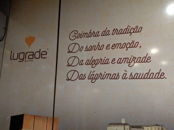 Restaurante em Coimbra: Solar do Bacalhau | Dizeres à porta