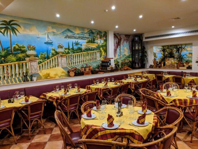 Interior da Pizzaria Il Tartufo