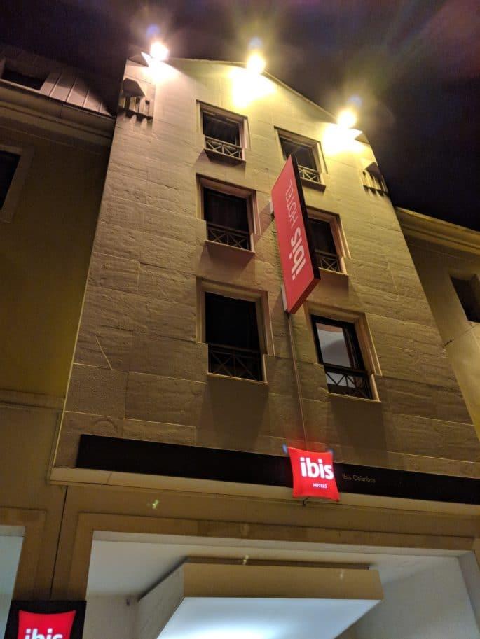 Fachada do Hotel Ibis de Coimbra