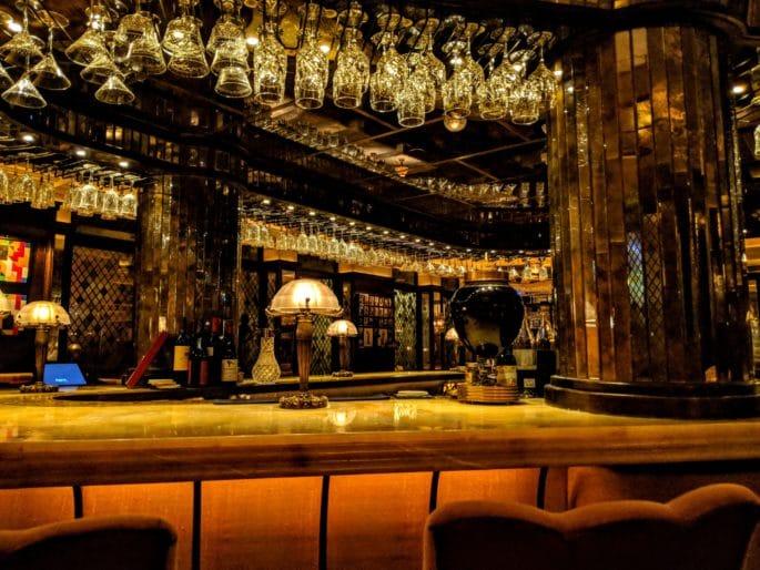 Restaurante de luxo em Londres: The Ivy - interior do restaurante