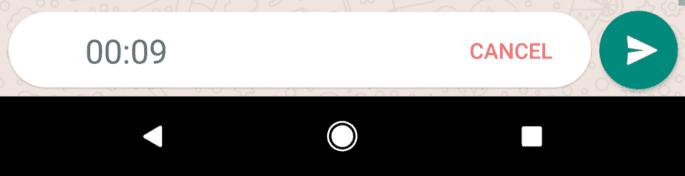 Gravar áudio no WhatsApp com a mão livre: cancelar ou enviar o áudio