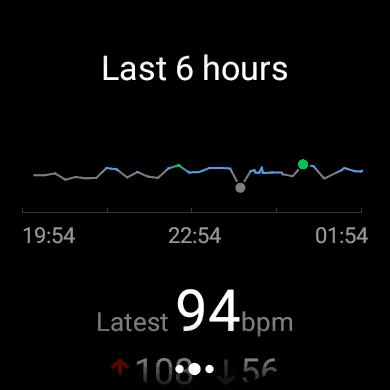 Tela do Huawei Watch 2: o medidor de frequência cardíaca