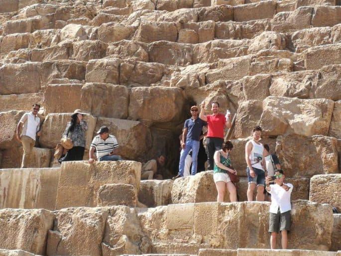 Entrar nas Grandes Pirâmides