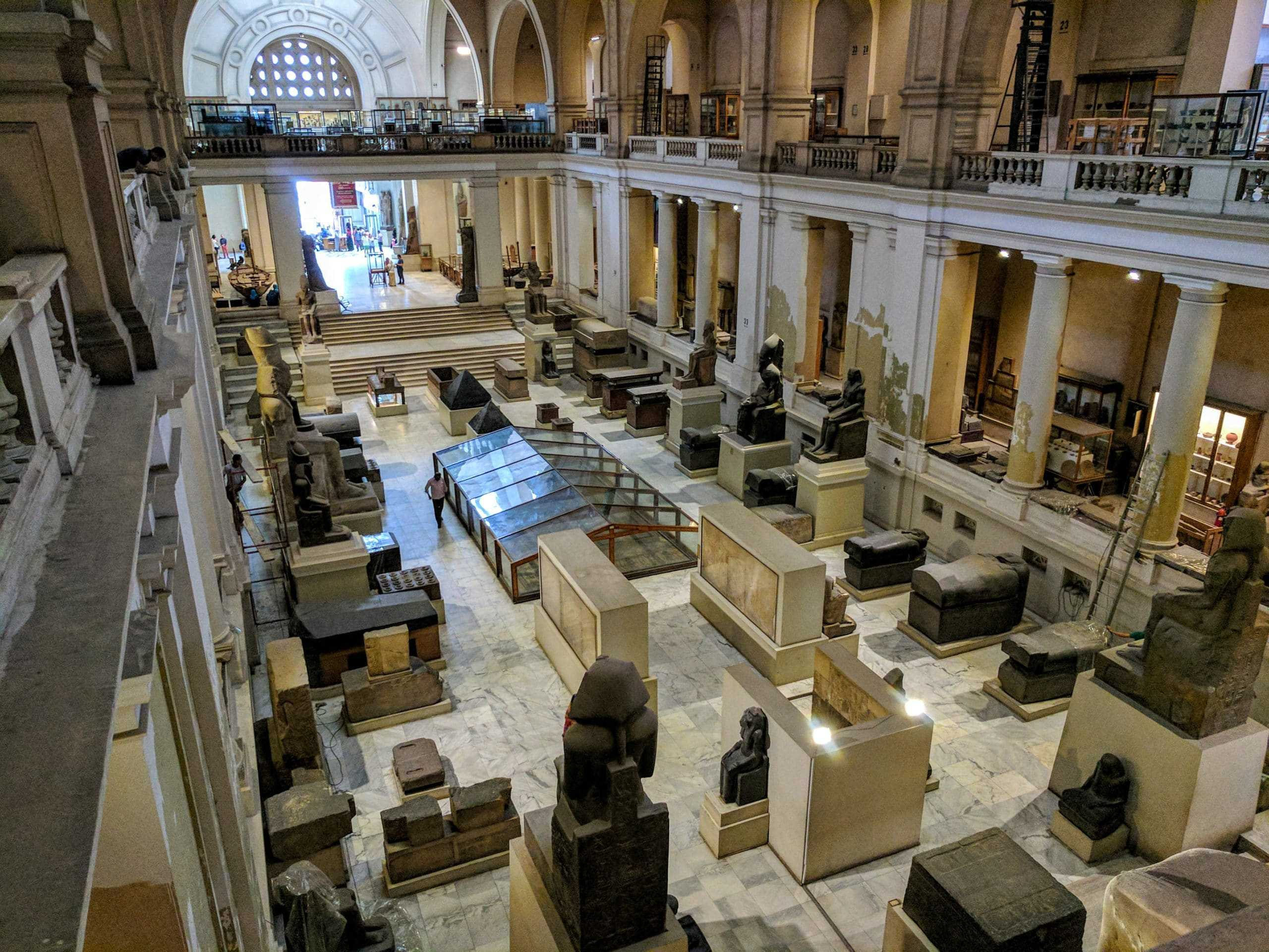 Inside the Cairo Museum (upper view)