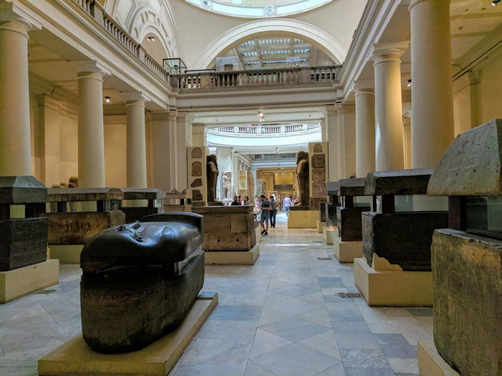 Inside the Cairo Museum.