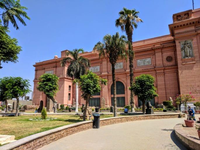 Fachada principal do Museu do Cairo - Mais um ponto de vista