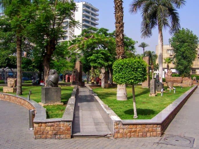 Fachada principal do Museu do Cairo - Mais uma visão