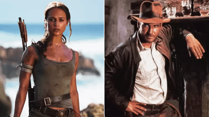 Indiana Jones e Lara Croft