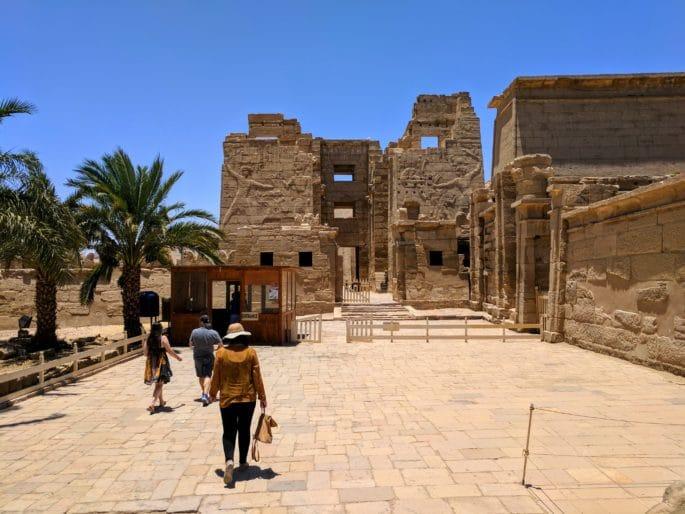 Templo de Medinet Habu: entrada