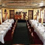 Jantar em navio no Cairo: boa idéia para quem não estará em cruzeiro no Nilo