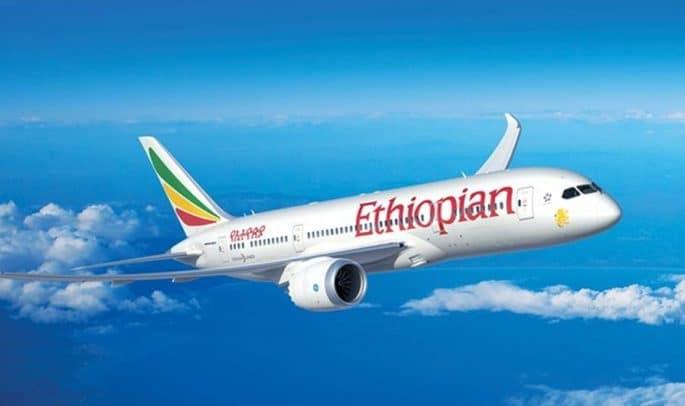 Um avião da Ethiopian Airlines em direção ao Egito