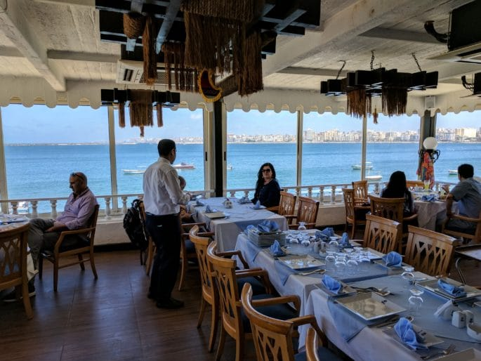 Um restaurante em Alexandria