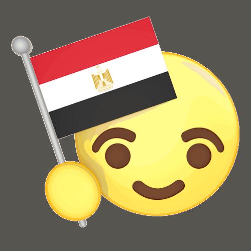 Emoji com bandeira do Egito
