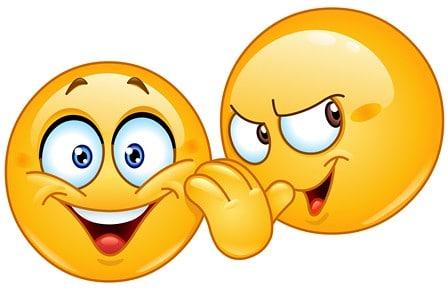 Emoji fazendo fofoca