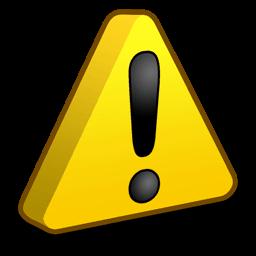 Alerta, símbolo amarelo.