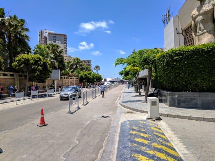 Rua da Biblioteca de Alexandria.