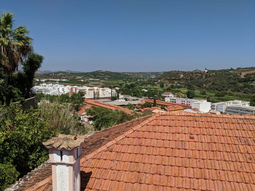 Viewpoint of Silves in the terrace of the restaurant
