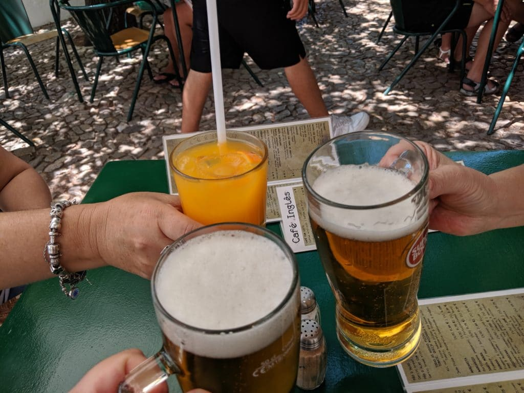 A toast with beer and orange juice