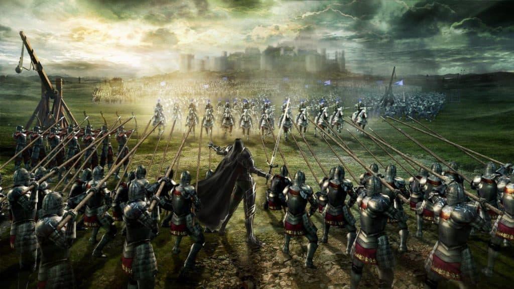 Batalha medieval.