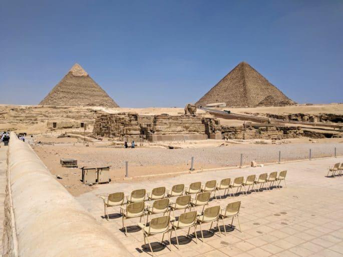 Pirâmides e Esfinge.