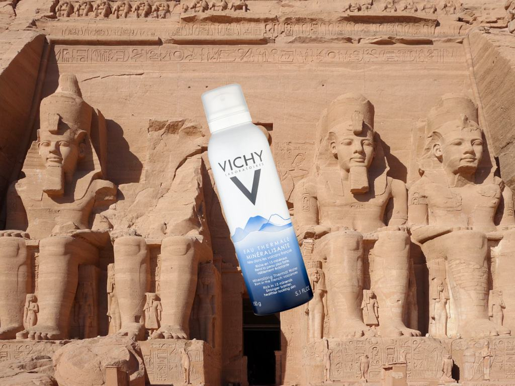 Água termal no Egito.