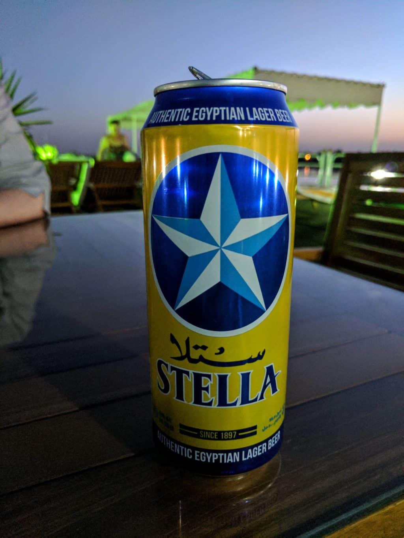 Lata de cerveja egípcia Stella.