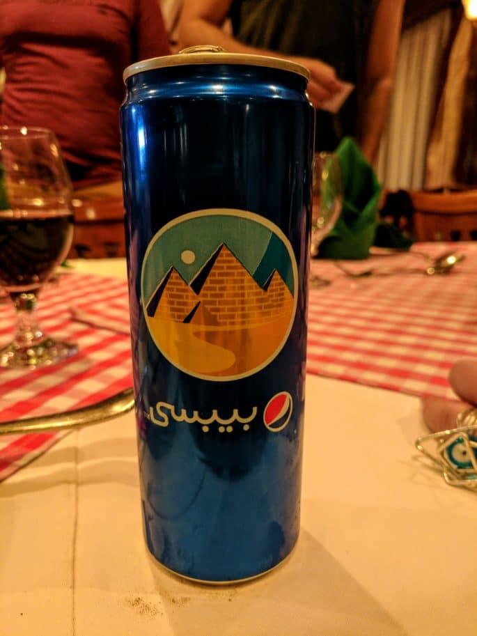 Lata de Pepsi no Egito.