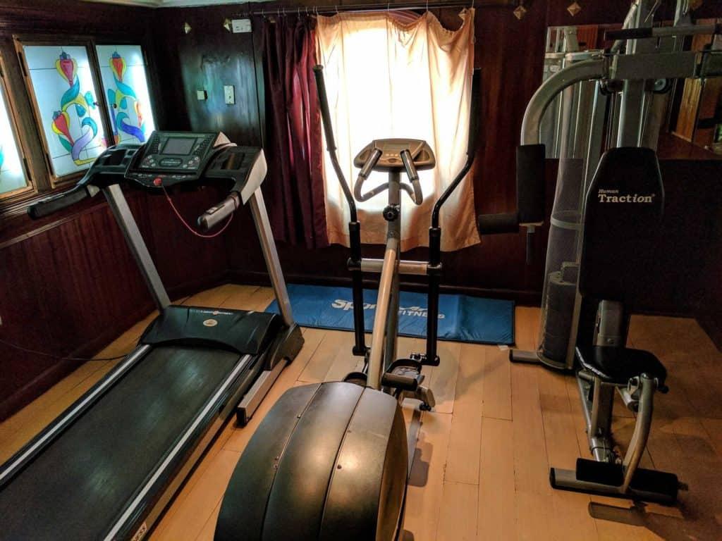 Sala de exercícios.