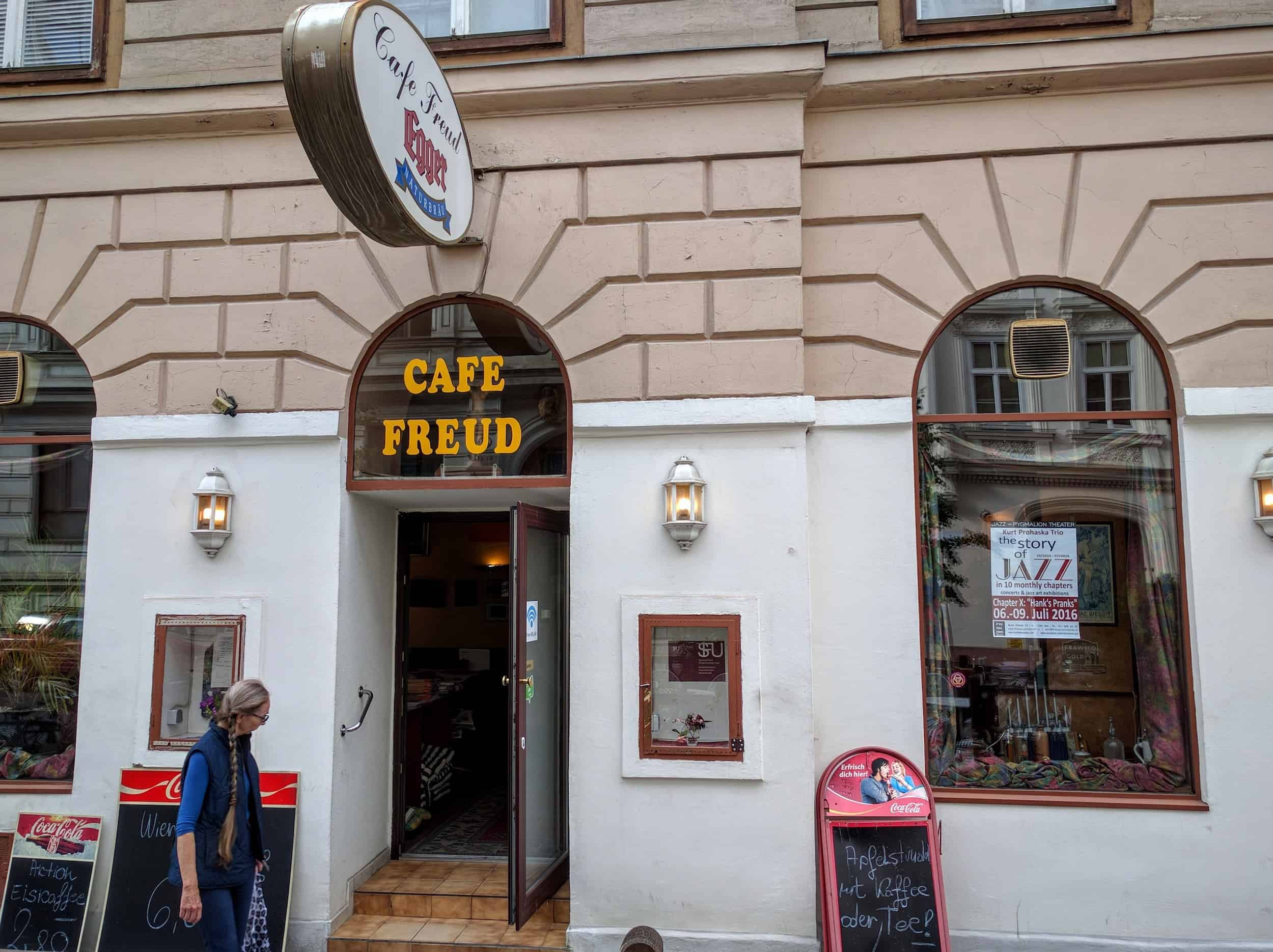 Entrance to the Cafe Freud.