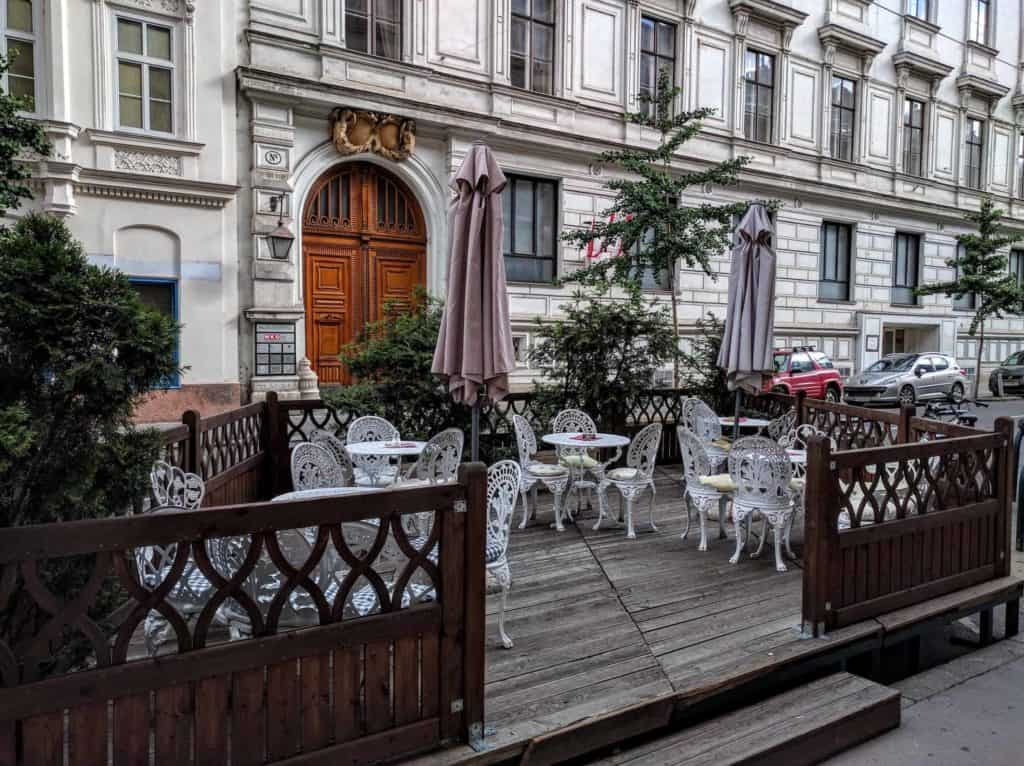 Cafe Freud: external area.