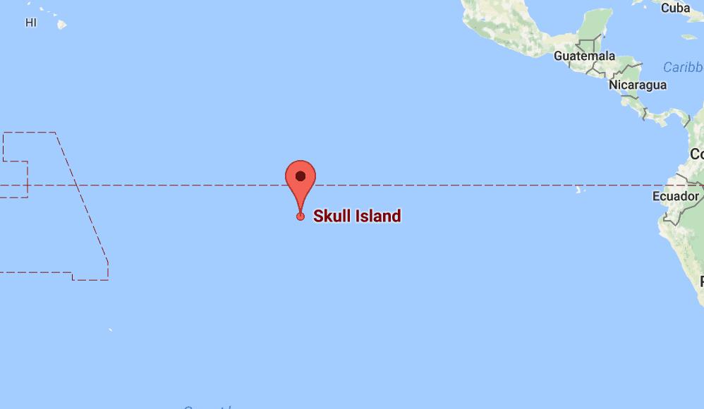 Google Mapas shows the island.