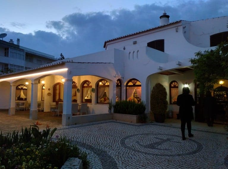 Front of the restaurant in Alvor.