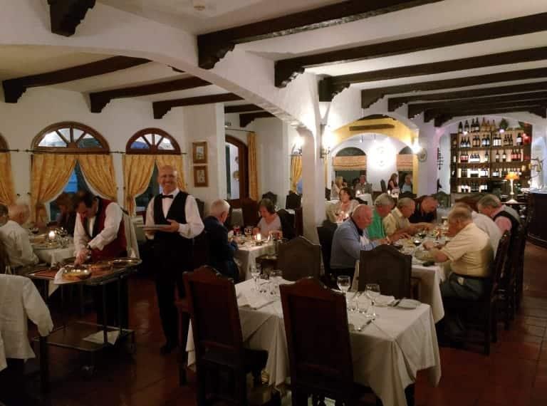 Main room of the restaurant.