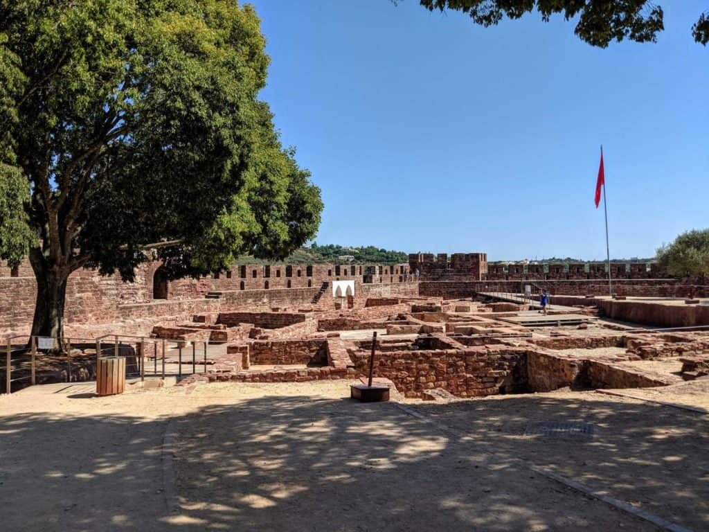 Inside Silves Castle