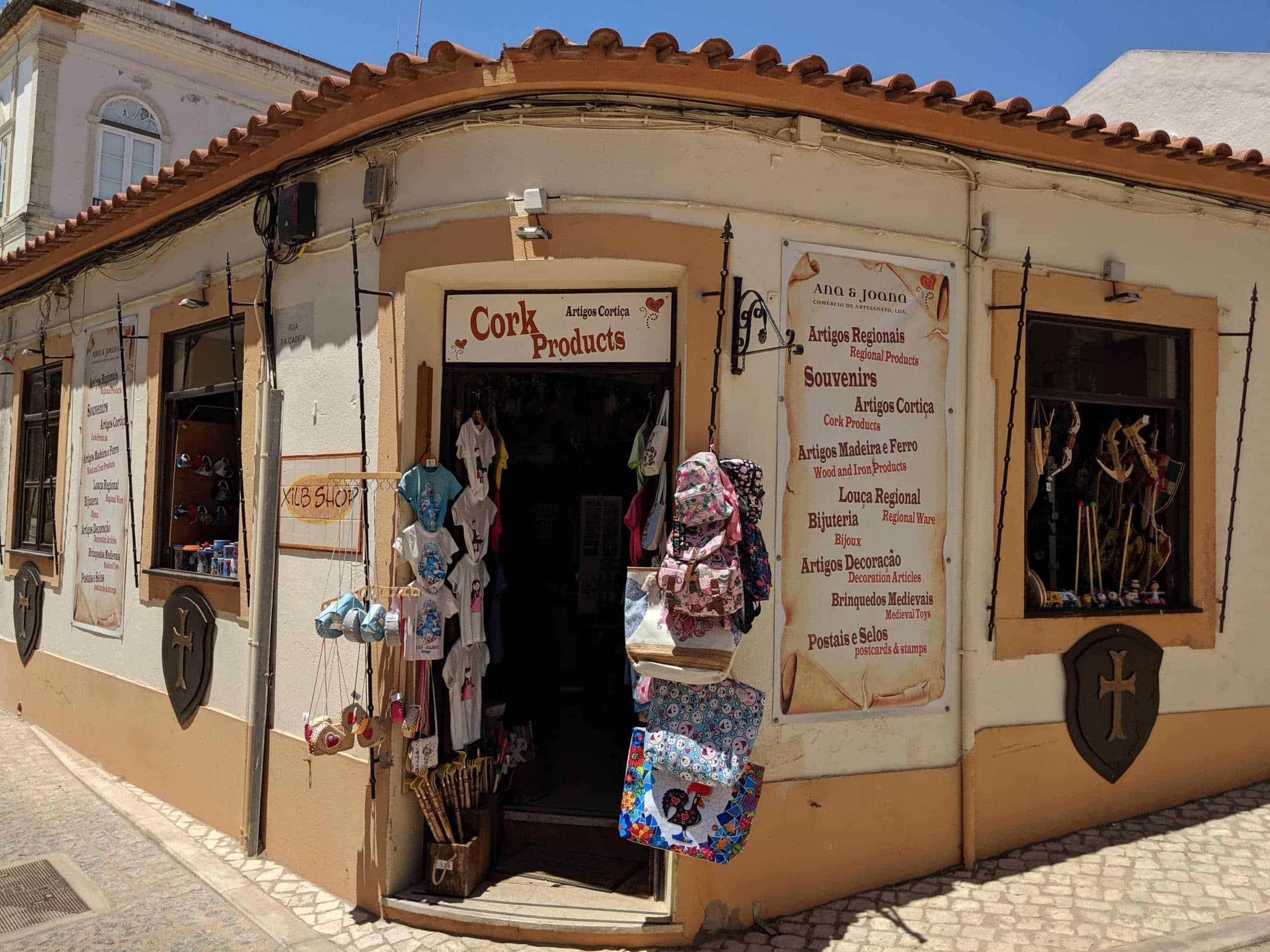 A gift shop in Silves Historic Center.