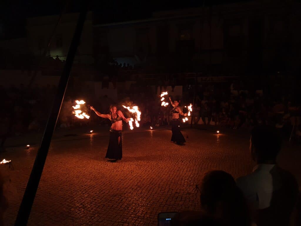 A show with fire