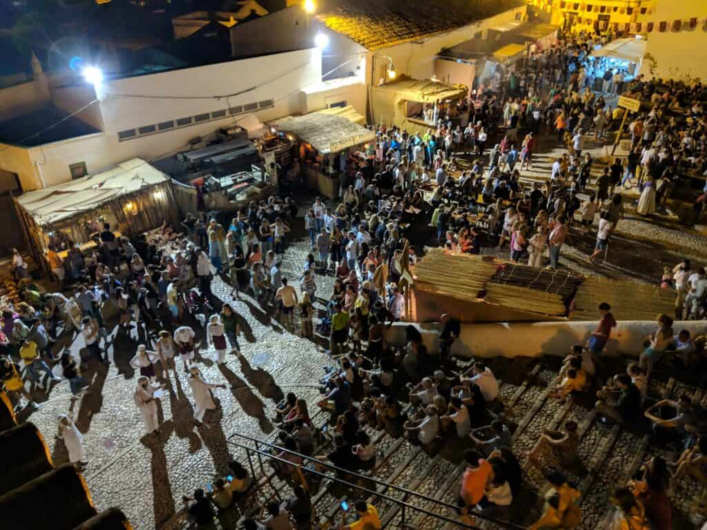 Crowd in a Medieval Fair in Portugal