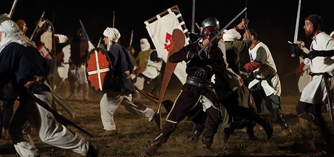 A battle during a medieval fair in Portugal