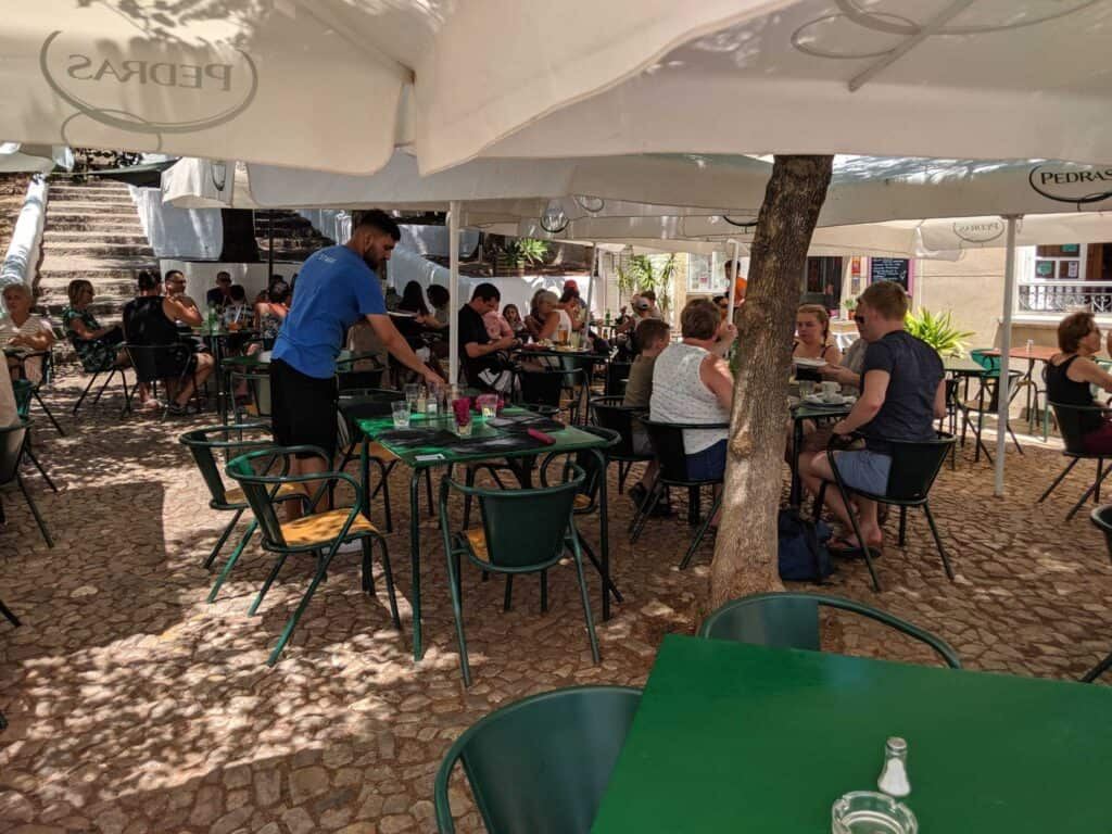 Exterior area of the restaurant in Silves