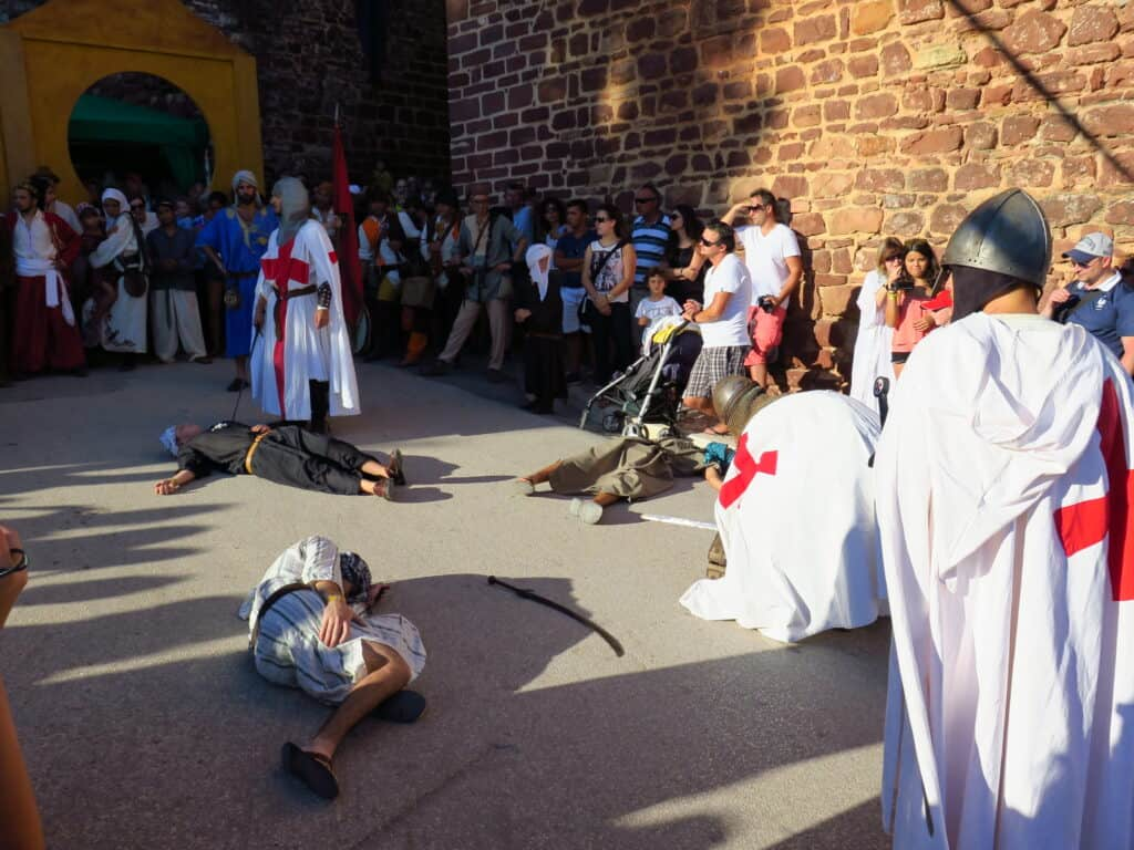 Templars fight simulation