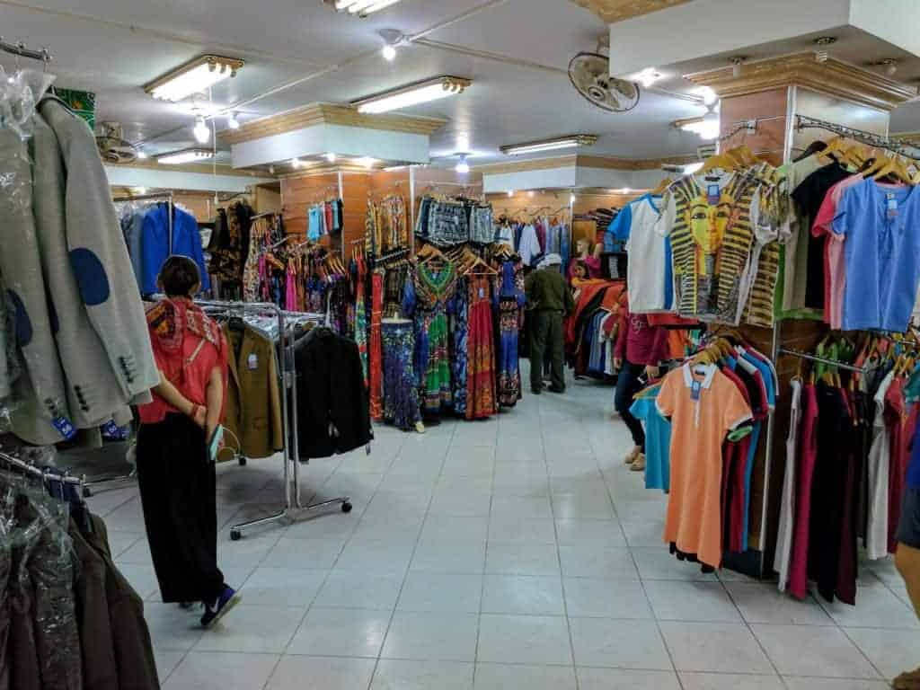 Clothing shop in Cairo