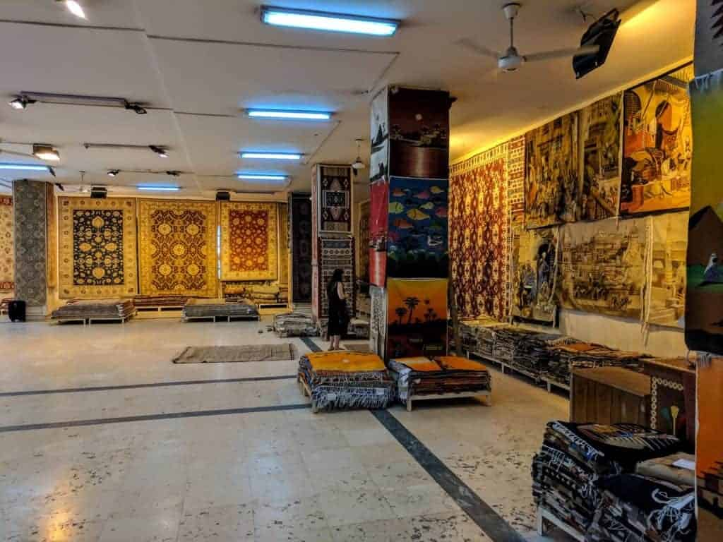 Carpet shop in Egypt